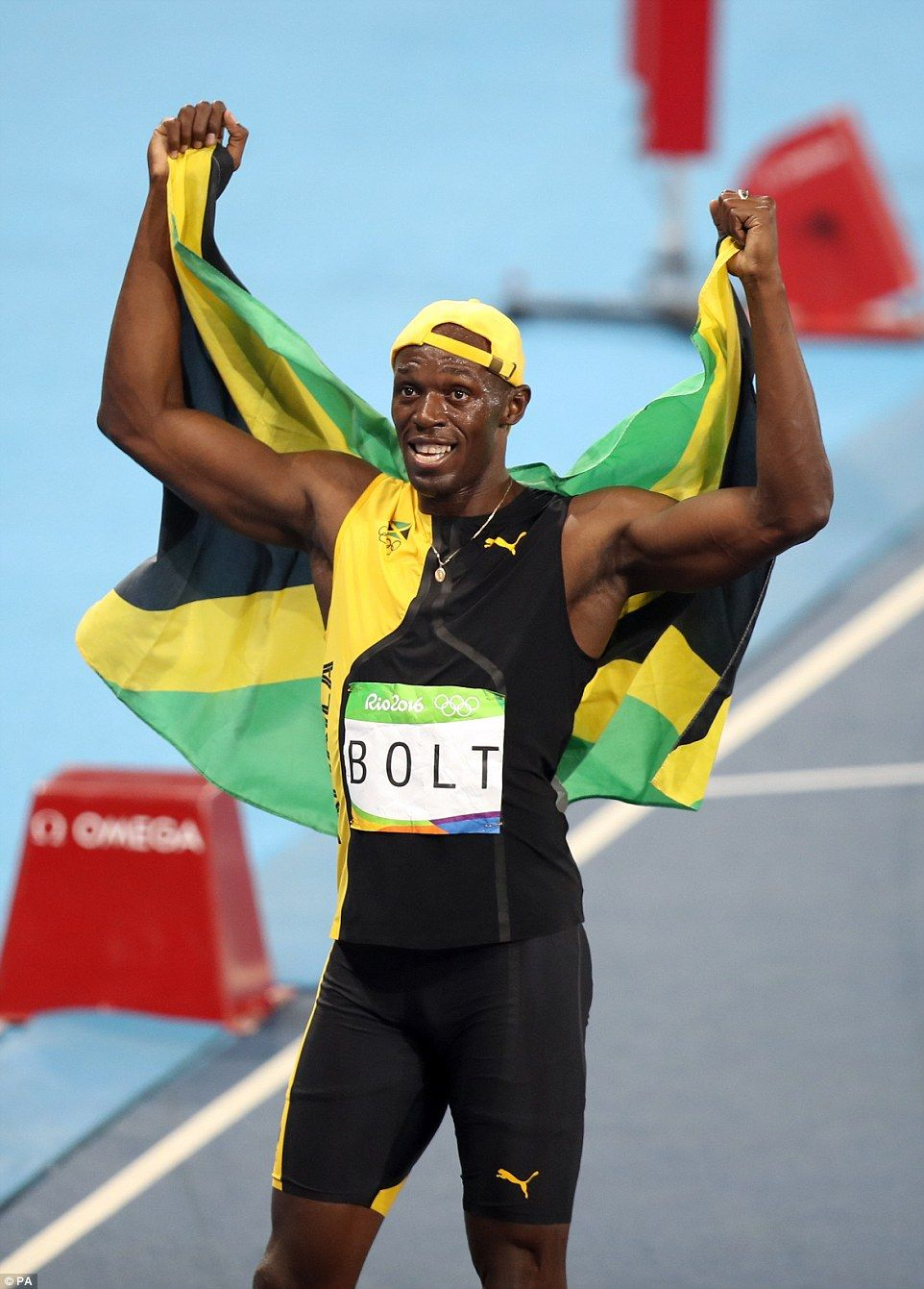 Usain Bolt wins third Olympic gold medal in the 100m ...