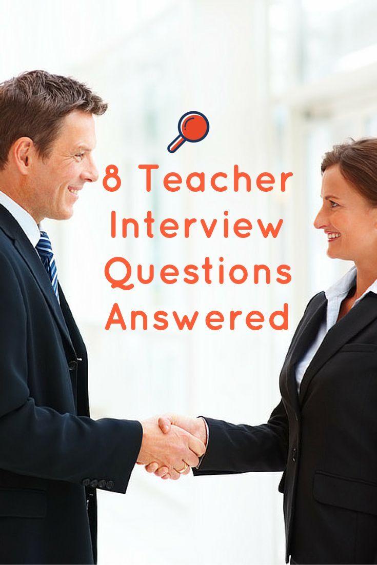 8 tough teacher interview questions answered plus