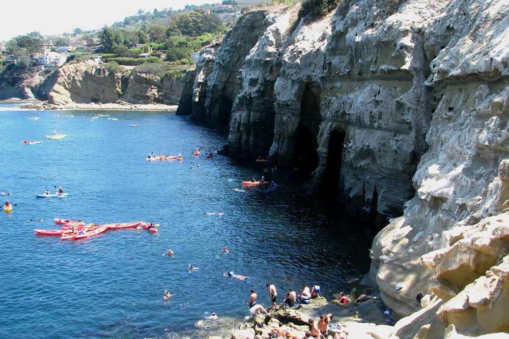 Kayak The 7 Caves In La Jolla
