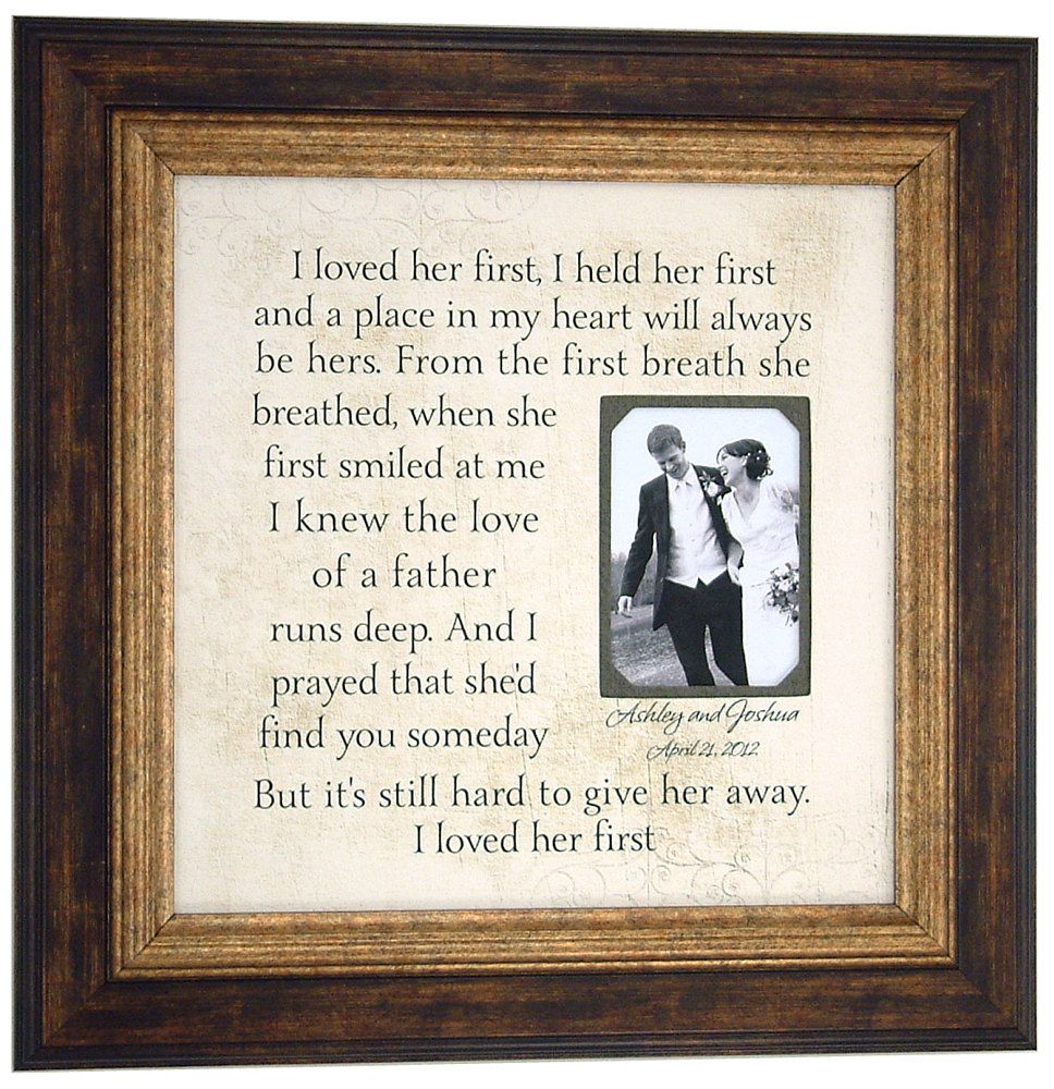 FATHER Of The BRIDE Gift By PhotoFrame Originals