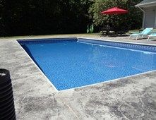 Concrete Pool Decks Photo Gallery Beauteous Gray Stamped Pool Deck Concrete Pool Decks Northern Concrete