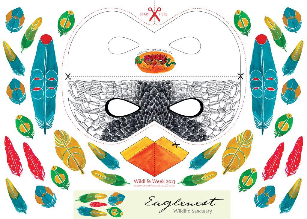 Bird Masks Templates Diy Bird Mask Template For  Free Mask Templates