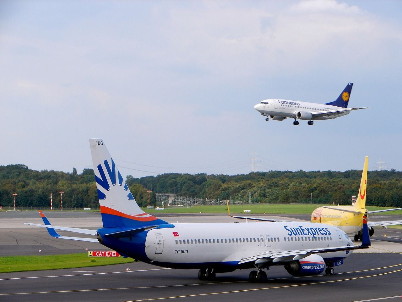 Travel, Airport, Aircraft, Düsseldorf, Departure travel