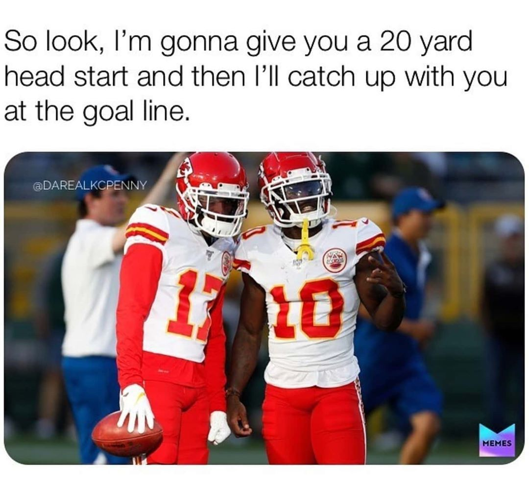 All Things Chiefs Superbowl On Instagram Can The Cheetah Catch Up With The Jet Given A 20yd Headstart Nfl Memes Funny Nfl Funny Funny Football Memes