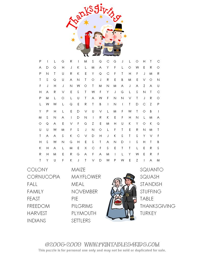 Thanksgiving Word Search : Printables for Kids – free word search ...