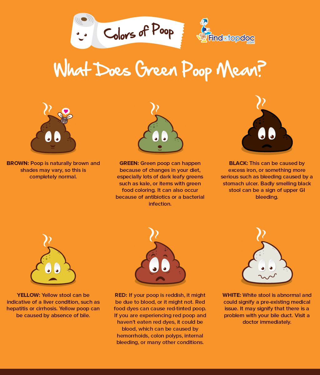 What Does Green Poop Mean Infographic Pinterest