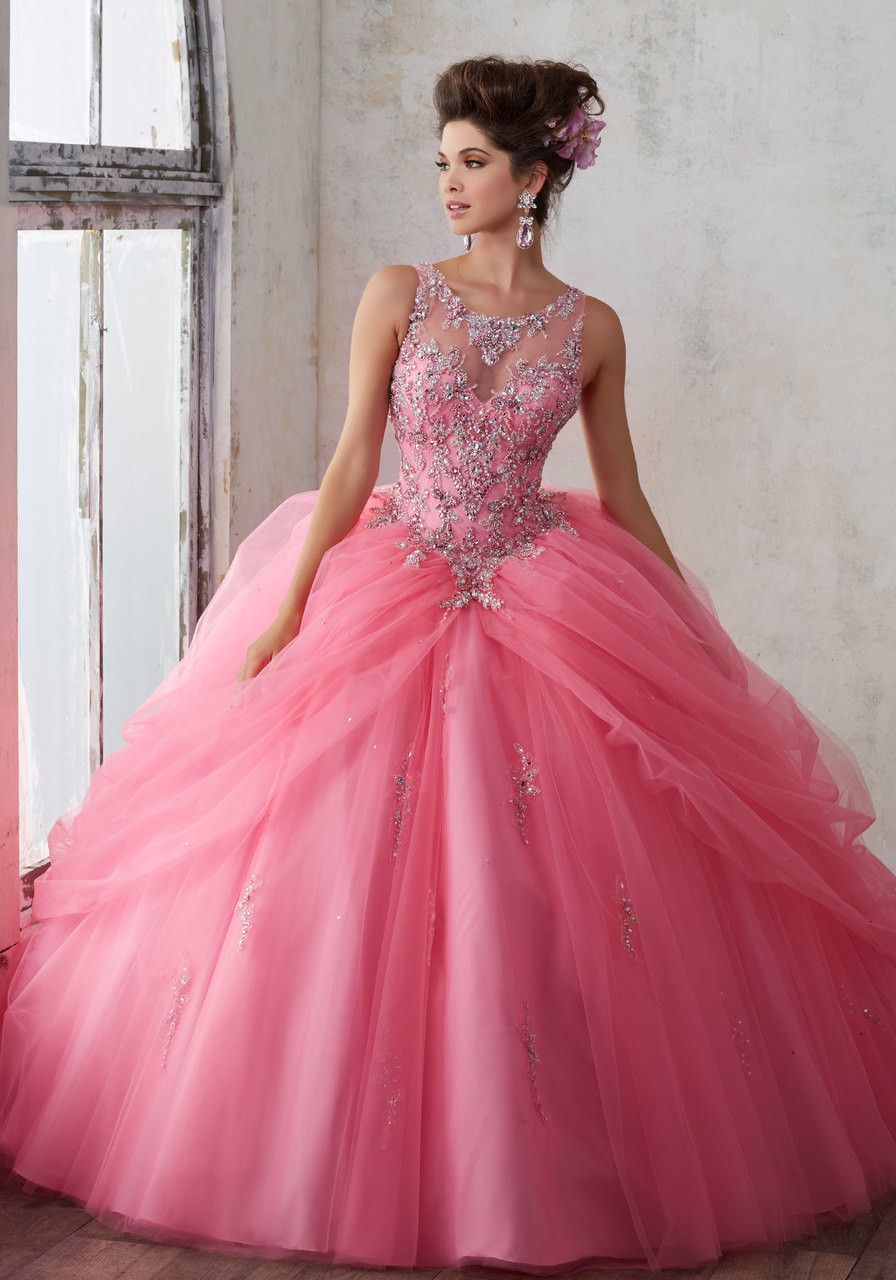 89125 Jeweled Beading on a Princess Tulle Ballgown | 15 años ...