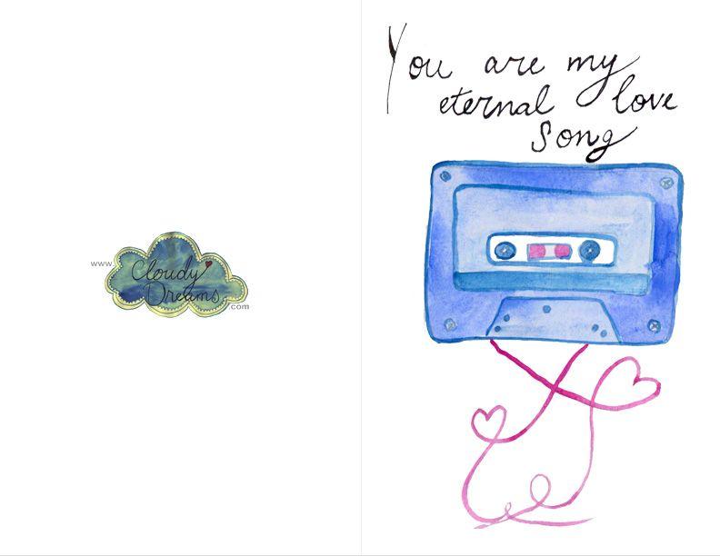 Beautiful Hand Painted Free Printable Anniversary Cards \ Love - free printable anniversary cards