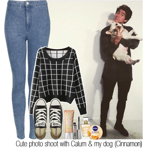 """""""Cute photo shoot with Calum & my dog (Cinnamon)"""" by itsrockyedwardstyles on Polyvore"""