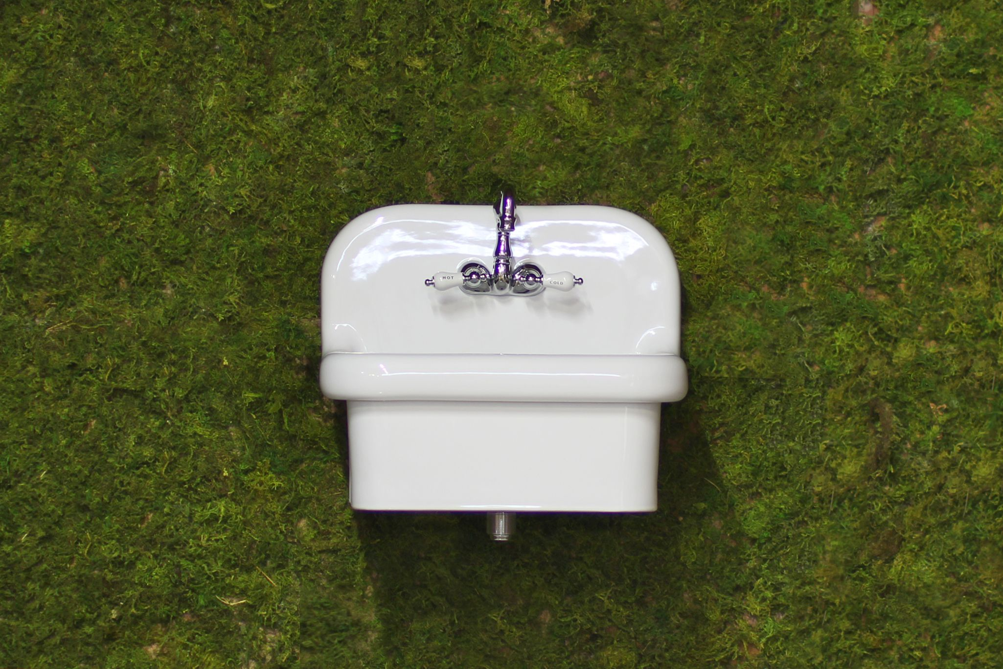 New Small Wall Mount High Back Bath Sink Antique Inspired Deep Basin Porcelain Farm Sink Package White Antique Bathroom Sink Farm Sink Wall Mounted Bathroom Sinks