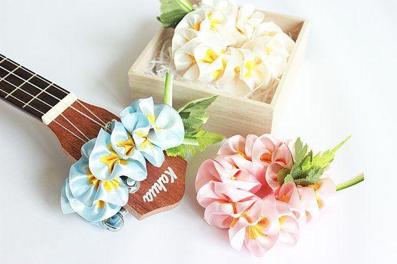 ukulele accessories,ukulele lei,ukulele strap,ribbon lei,soprano ukulele case,uke,hawaiian lei,tropical flower,plumeria,hibiscus,w plumeria