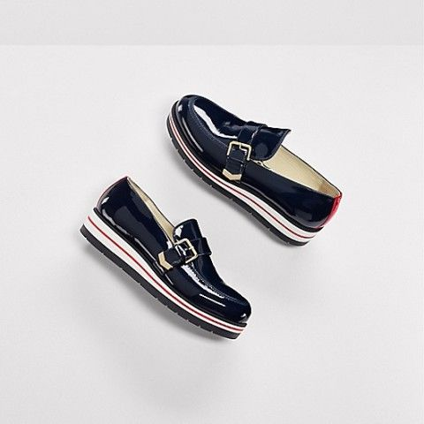 Tommy Hilfiger Gigi Hadid Leather Moccasin Flatform Shoes