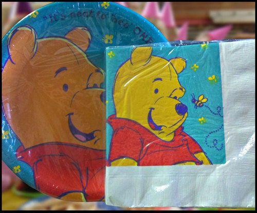 Disney Winnie the Pooh 24 Paper Plates 32 Napkins Matching kids Party favor Set & Disney Winnie the Pooh 24 Paper Plates 32 Napkins Matching kids ...