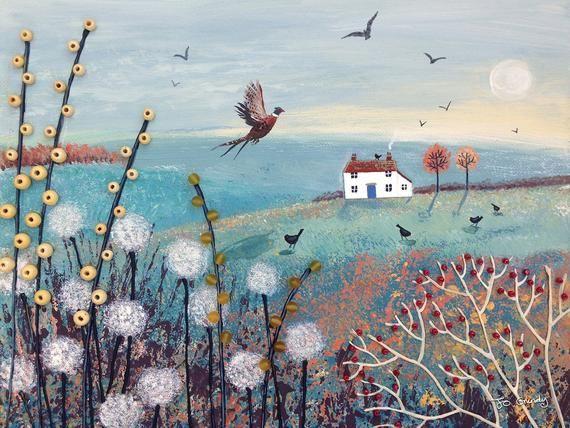 12 X 16 Canvas Print Of An Autumn Scene