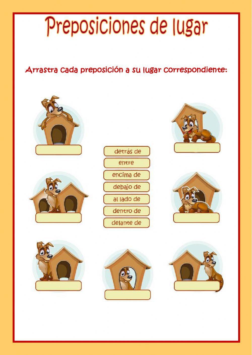 Preposiciones de lugar - Ficha interactiva | Español como Lengua ...