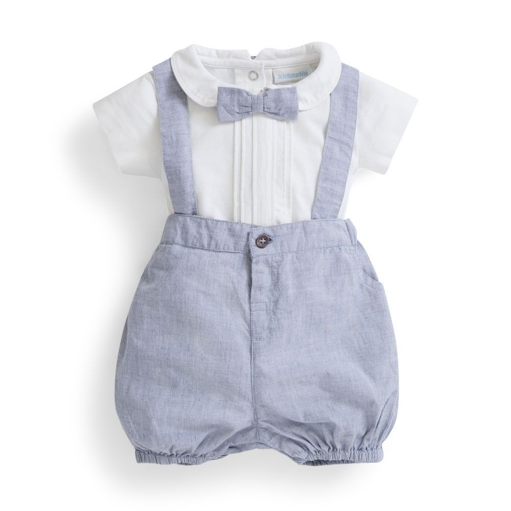 f2a0ea259053 Blue Baby 3-Piece Shorts Set with Braces