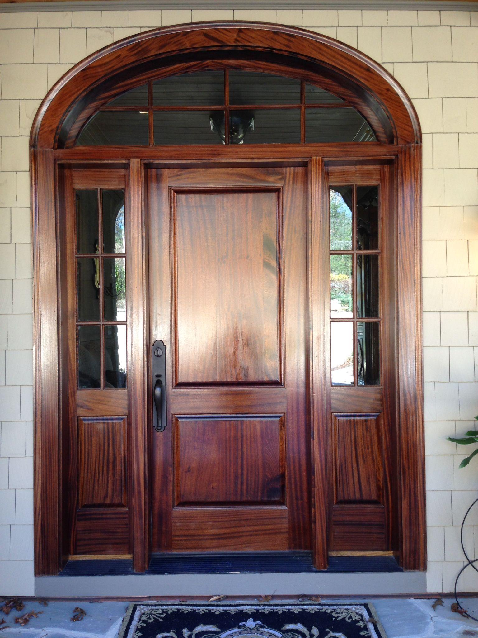 Charmant Sapele Mahogany Front Door