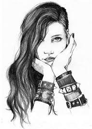 Resultado De Imagem Para Desenhos Tumblr Rockeiras Ilustracao De