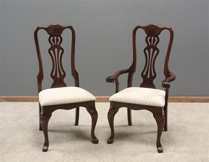 Amish Cherry Wood Dining Chairs