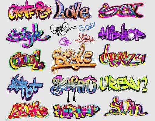 Bilderwelten Wandtattoo Graffiti Set Ab 34 95 Wandtattoo Aus Selbstklebender Glatter Wandfolie Ruckstandsfre In 2020 Graffiti Graffiti Schriftzug Graffiti Bilder