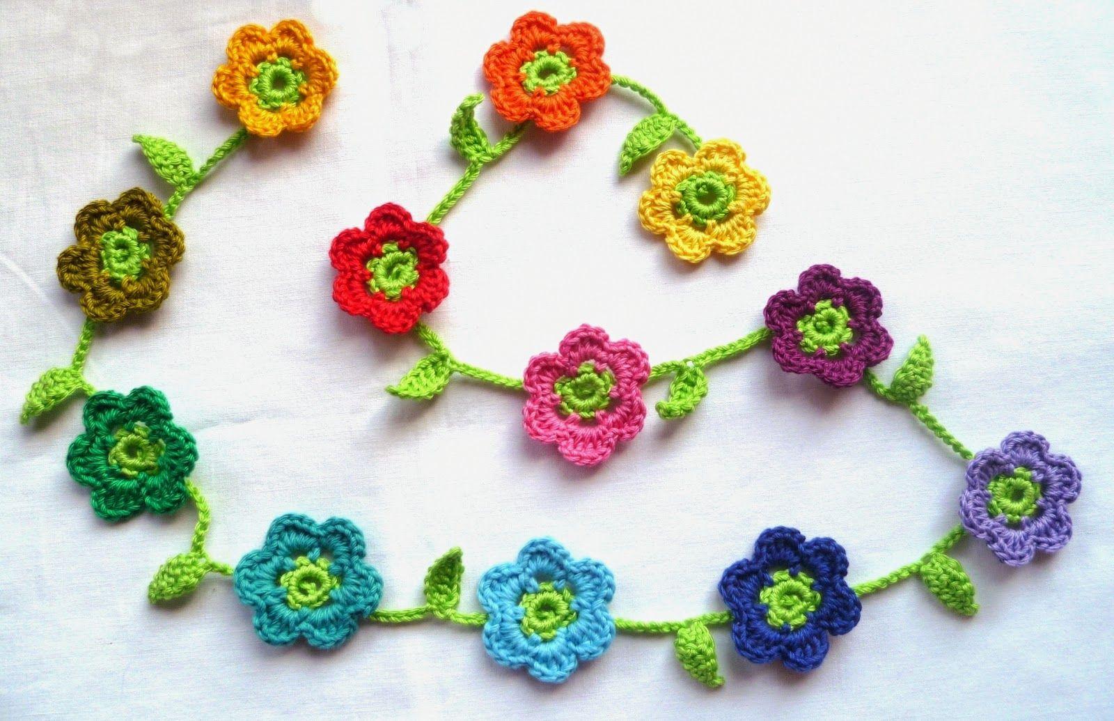 Blütengirlande - ♥ strickliese-kreativ ♥