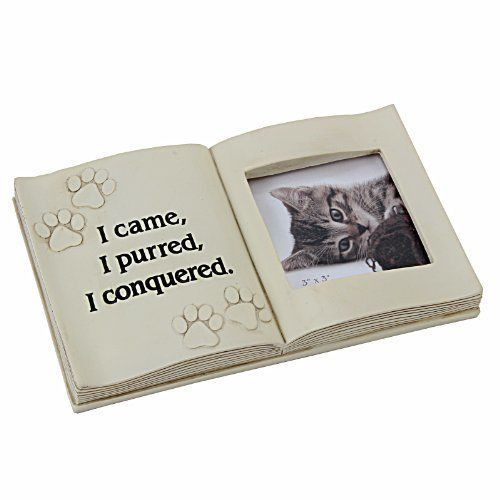 In Loving Memory Graveside Memorial Gift Ornament Photo Frame Cat ...