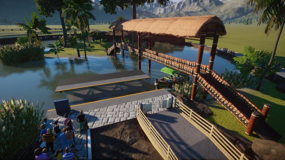 My African Bridge is now on the Workshop! (Link Below) : PlanetZoo in 2020 | Planet coaster, Animal habitats, Zoo