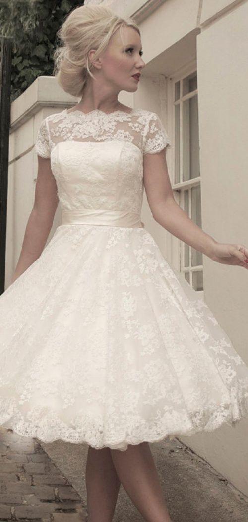 short lace wedding dress ii love it | ** All Things Wedding ...