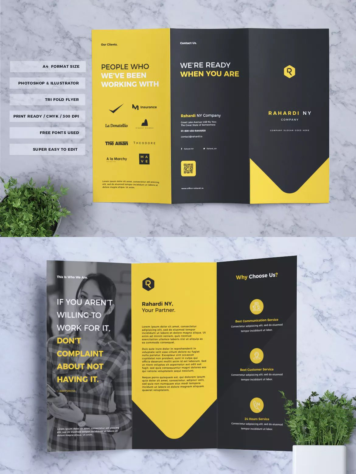 Corporate Business Trifold Flyer Vol 03 By Rahardicreative On Envato Elements Trifold Brochure Template Brochure Template Psd Brochure Psd Tri fold brochure photoshop template