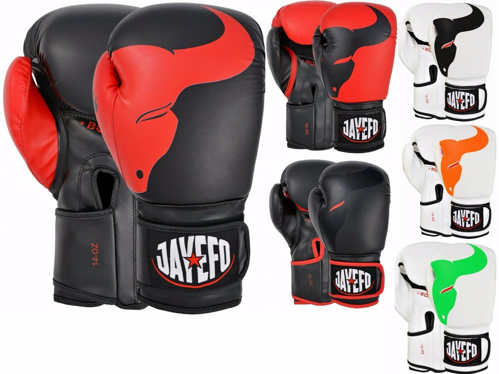 Boxing Punch Bag Mitts Kickboxing MMA Training Gloves  Leather Red Small