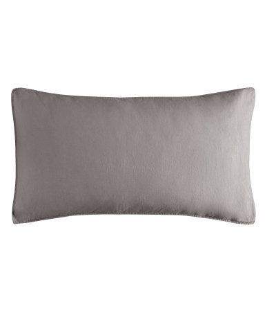 Linen pillowcase  £12.99  DESCRIPTION  Washed linen pillowcase with double-stitched hems. Thread count 104. Size 50x90 cm. Tumble-drying will help to keep the linen soft.