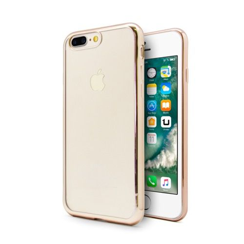 1c6aee0b86d FUNDA TPU GEL PARA IPHONE 7 PLUS COLOR FRAME DORADO,Funda protectora de TPU  compatible con iPhone® 7. Fabricada en materiales de alta calidad,  resistentes y ...