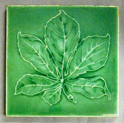 Craven Dunnill And Co Chestnut Leaf Design Ironbridge Gorge Museum Art Nouveau Tiles Antique Tiles Floral Tiles