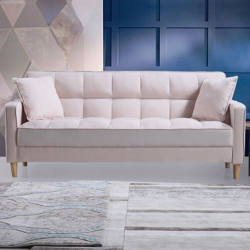 Best Found It At Wayfair Modern Linen Fabric Tufted Small 640 x 480