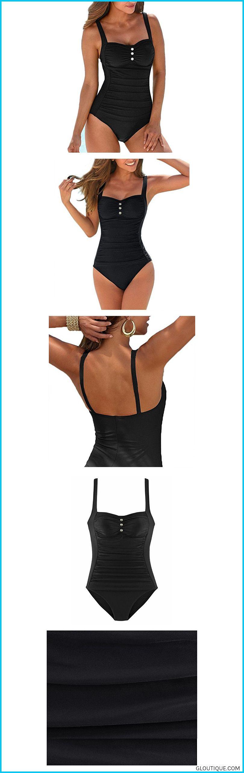 a716a66b3b ... Push Up, Ruched, Retro Bathin#fashionUpopby Women's Retro Tummy Control  One Piece Swimsuits Monokini Push up Bathing Suits Swimwear Black 10 #Upopby  ...
