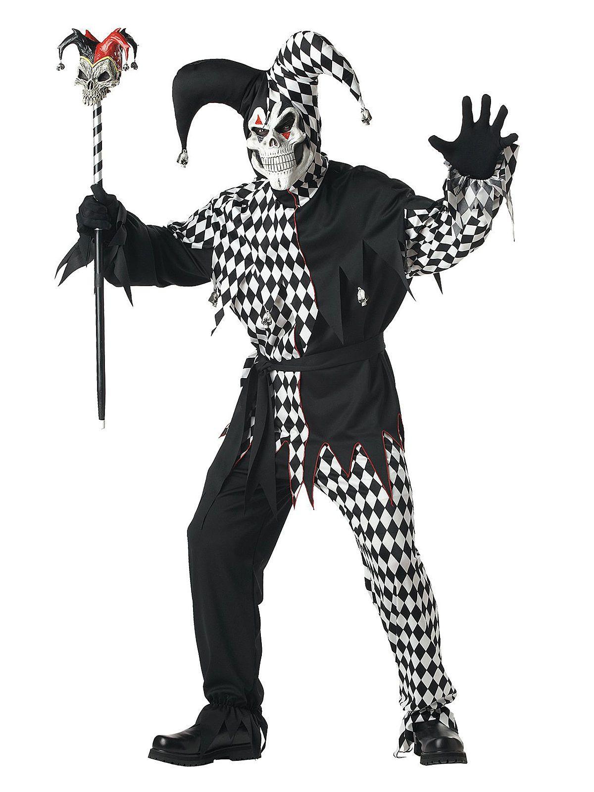 Boser Clown Harlekin Halloween Kostum Schwarz Weiss Pinterest