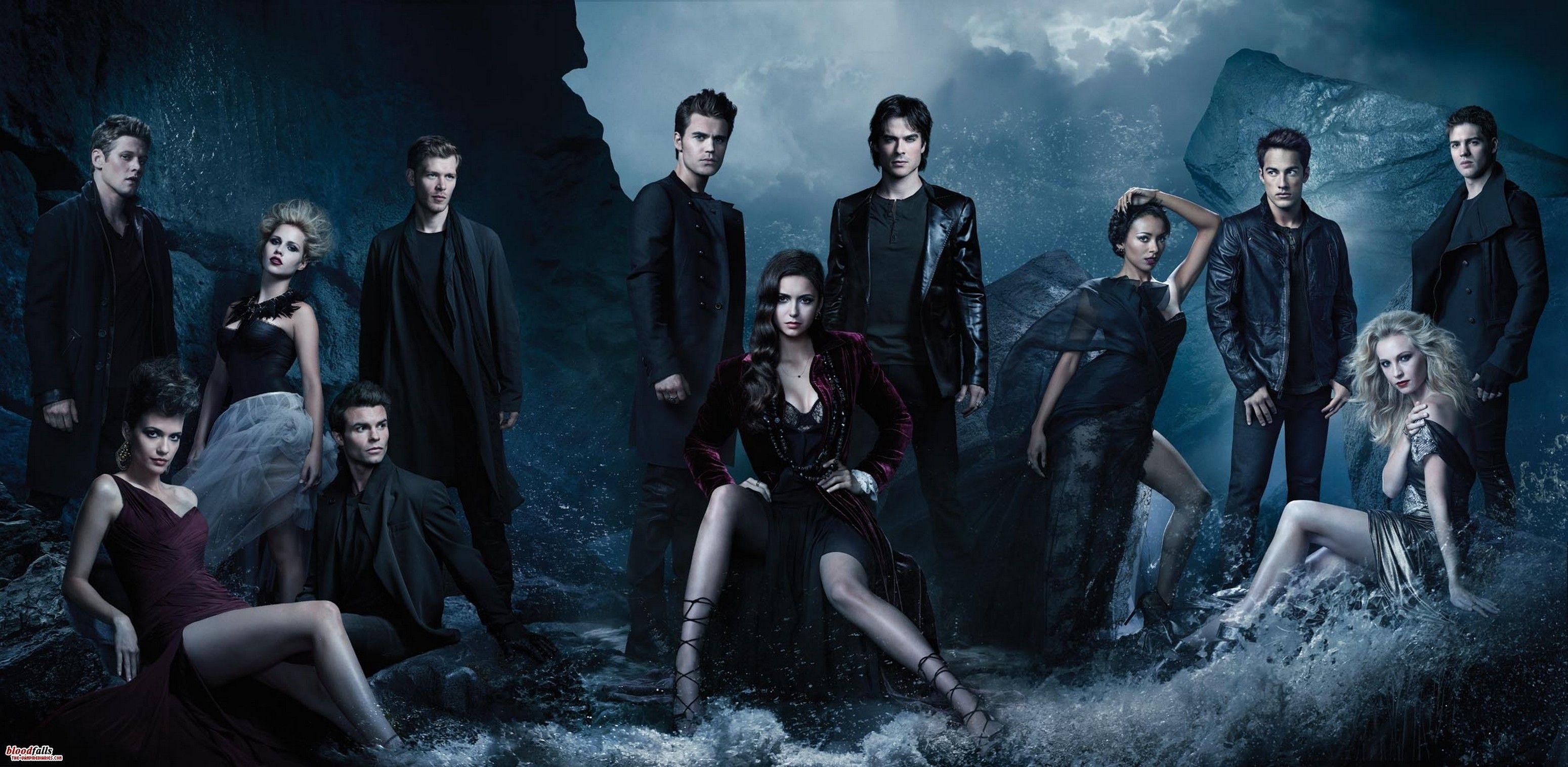Vampire Diaries Cast Vampire Diaries Papel De Parede Vampire