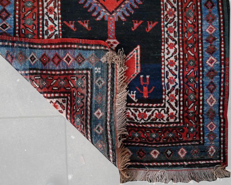 4 X 13 Ft Heriz Rug Azerbaijan Hallway Runner Rustic Style Etsy In 2020 Heriz Rugs Style Carpet Rugs