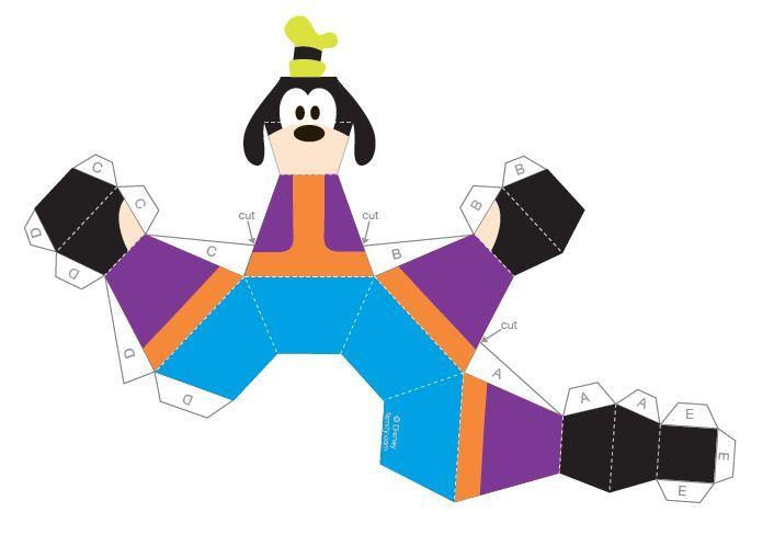 Fabuloso Moldes 3D da Turma do Mickey para Imprimir | 3d, Imprimir e Molde WB17
