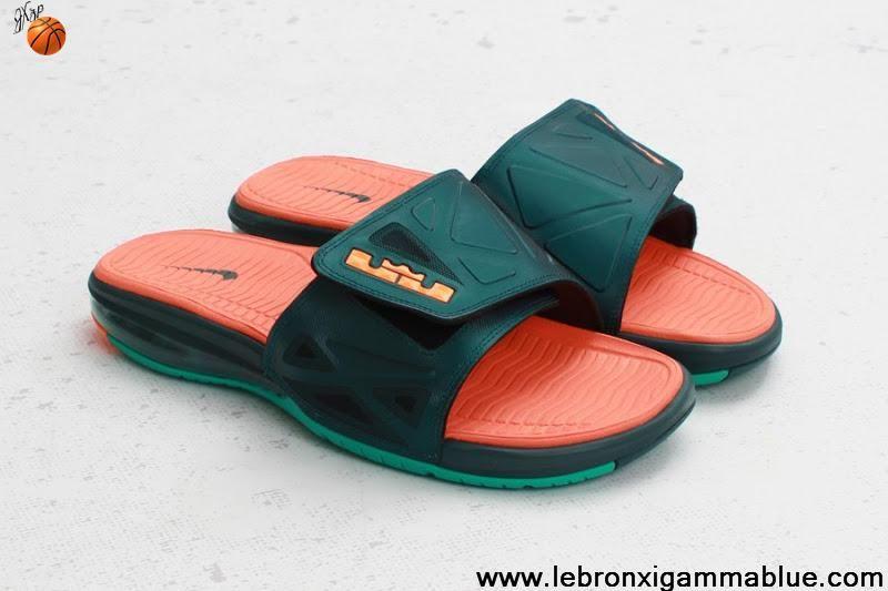 Online sales Nike Air Lebron 2 Slide Elite Flops Black White-Uni