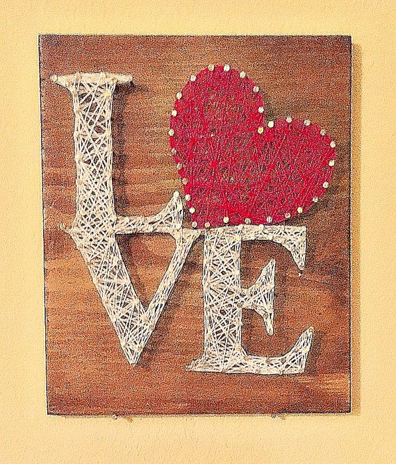valentines day love sign string art by kellyskrafts12 on etsy art ideas pinterest string. Black Bedroom Furniture Sets. Home Design Ideas