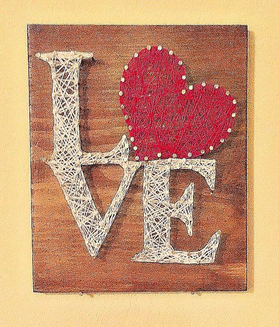 Valentines Day Love Sign String Art by KellysKrafts12 on Etsy