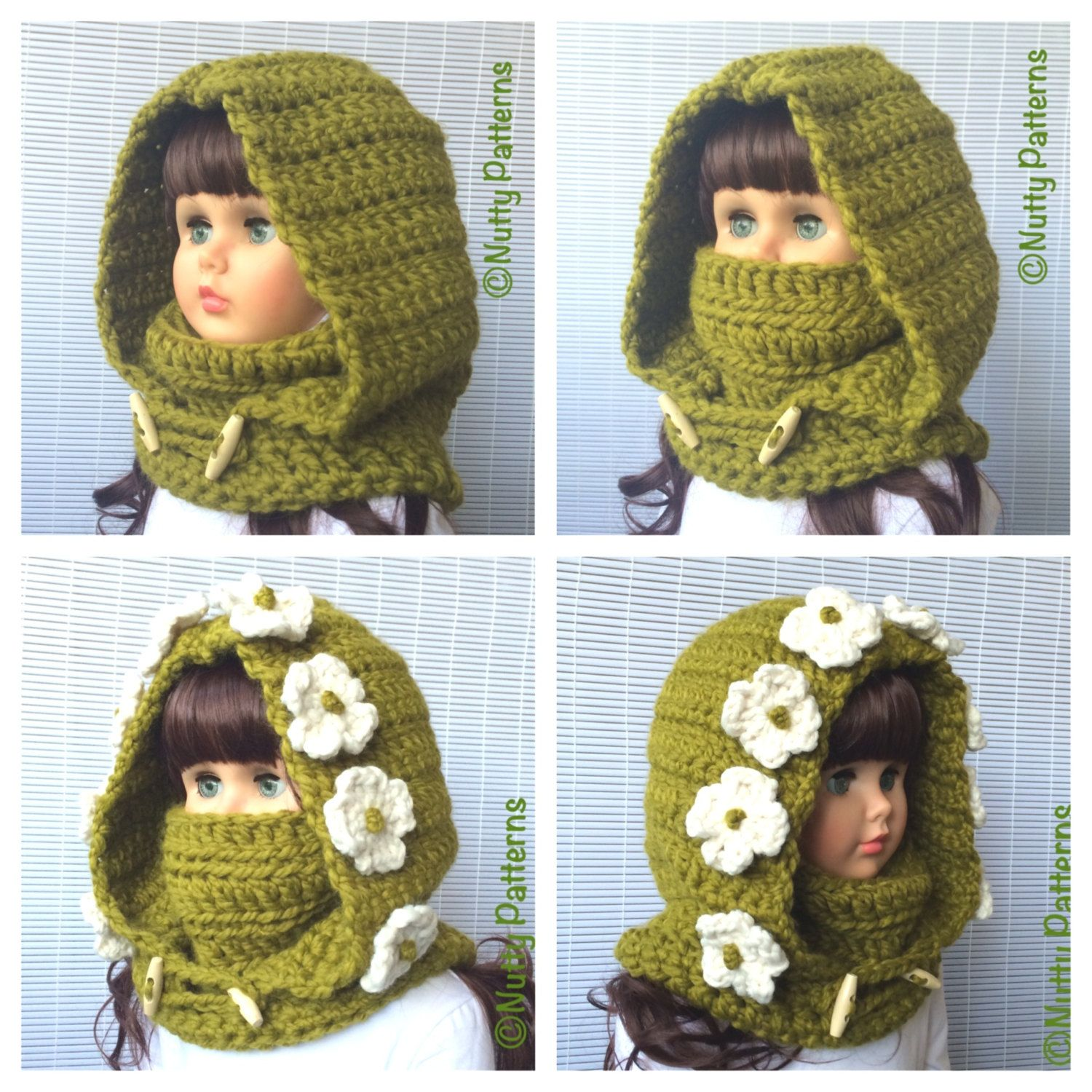 Crochet Patterns * Montana Hood with Cowl * Instant Download Pattern ...
