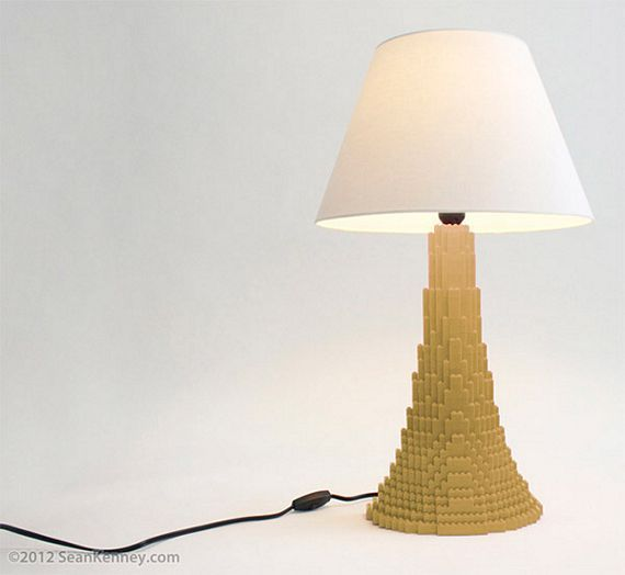 These Lego Table Lamps Are Made With Real Lego Bricks Table Lamp Lamp Lego Table