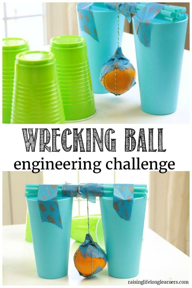 Orange Wrecking Ball Engineering Challenge | Activities, Stem ...