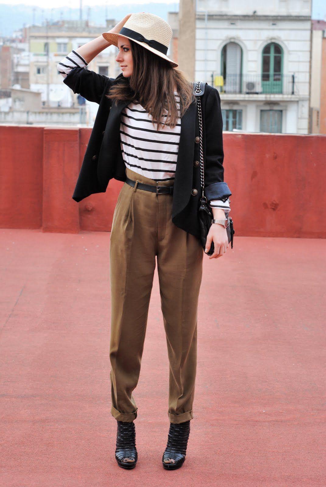 1060fcc359d4 khaki, black, white. striped shirt.   Fashion Your Seatbelts ...