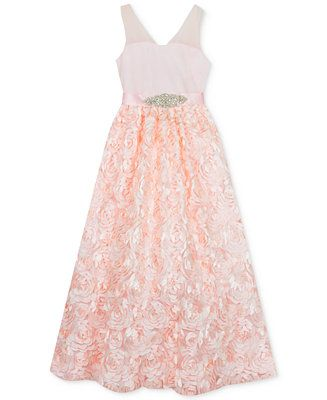 2e8b0cb64dac0 Shop Rare Editions Little Girls Mesh Illusion Soutache Gown online at  Macys.com. A