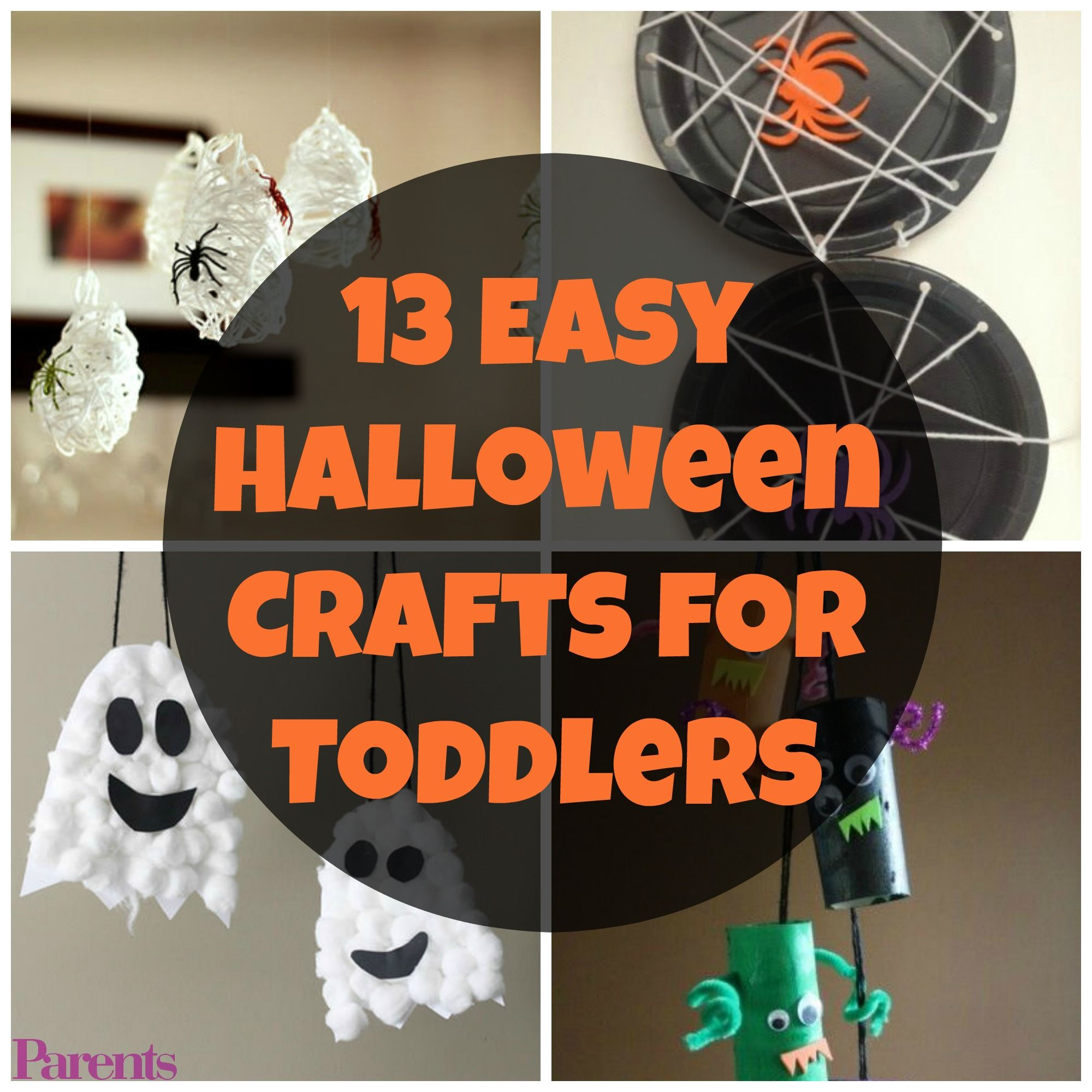 13 Easy Halloween Crafts For Toddlers Diy Halloween
