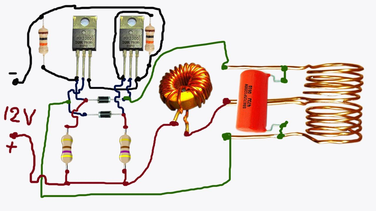 small resolution of testing simple induction heater in 12v dc www yarbnas com diy electronics