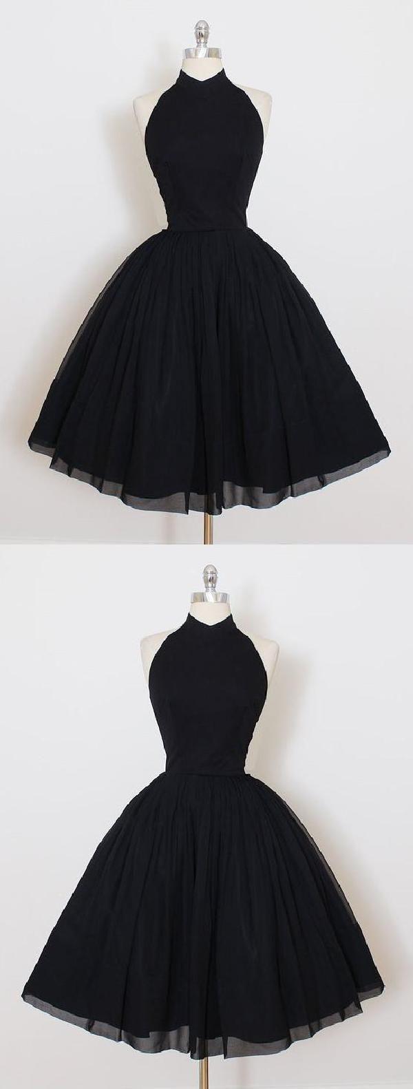 Black lace homecoming dress vneck prom dress prom dresses
